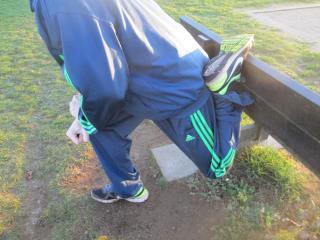 beenspieren vooraan stretchen